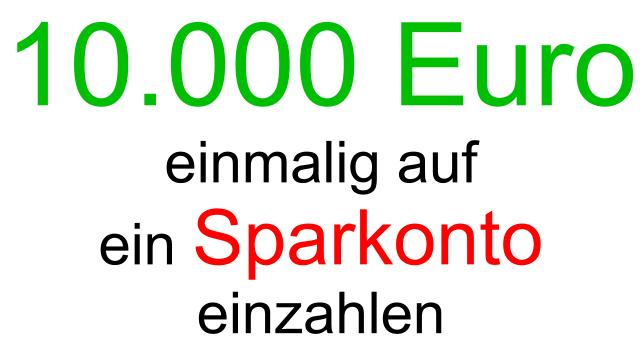 10000 Euro einzahlen