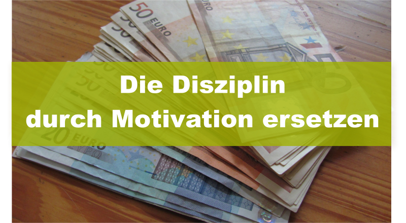Geld sparen Disziplin