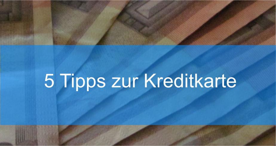 Tipps zur Kreditkarte