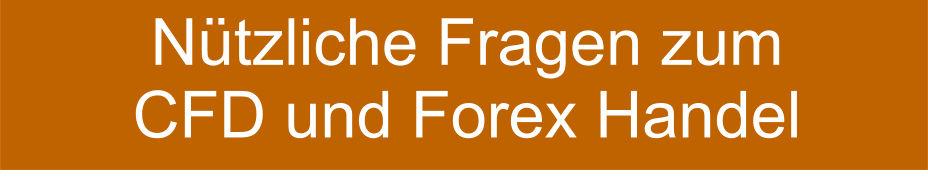 Fragen CFD Forex Handel