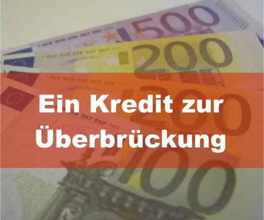 Kredit zur Überbrückung
