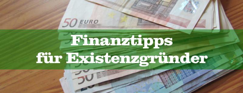 Finanztipps Existenzgründer