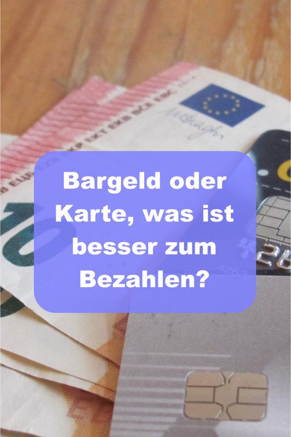Bargeld oder Karte