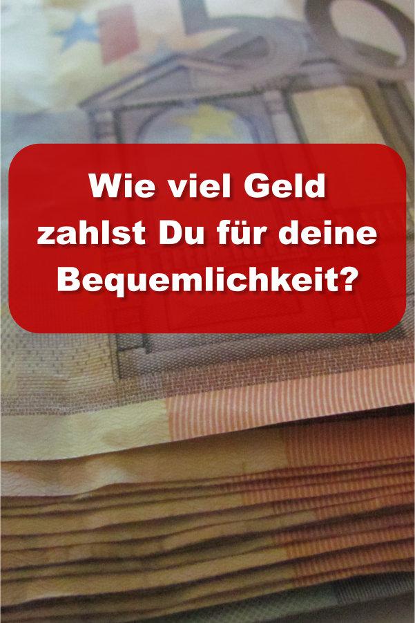 Geld zahlen Bequemlichkeit
