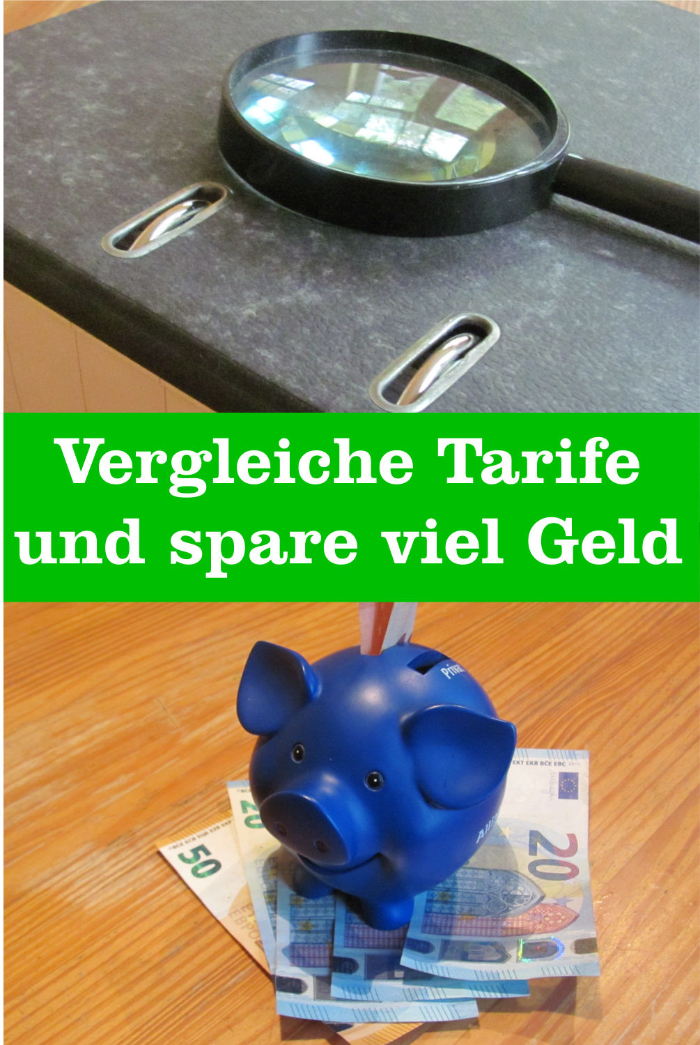 Geld sparen Tarife