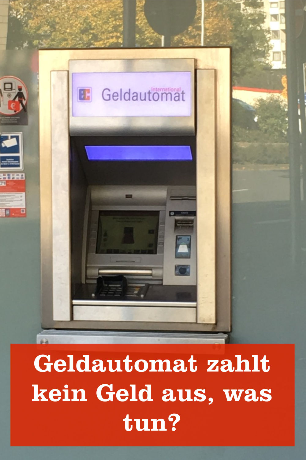Geldautomat zahlt kein Geld aus