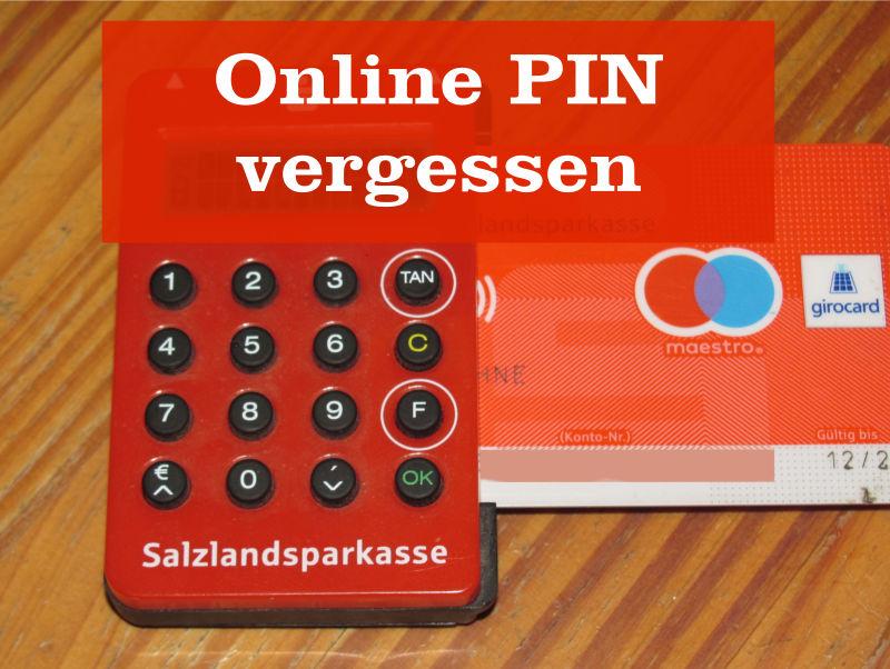 Sparkasse Online PIN vergessen