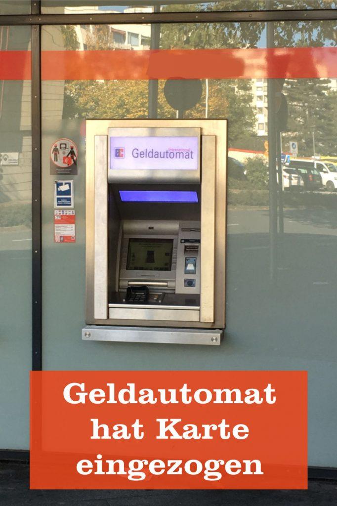 Geldautomat Karte eingezogen