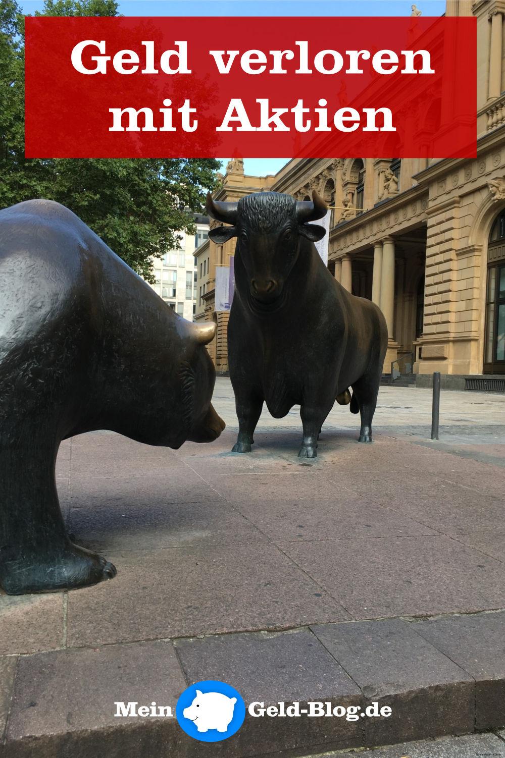 Geld verloren mit Aktien